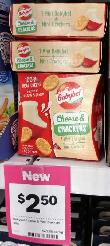 Babybel 40g Cheese & Crackers Mini