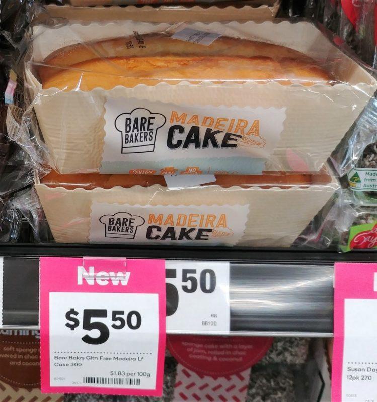 Bare Bakers 300g Cake Madeira