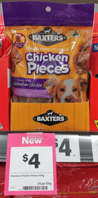 Baxter's 100g Dog Treats Chicken Pieces