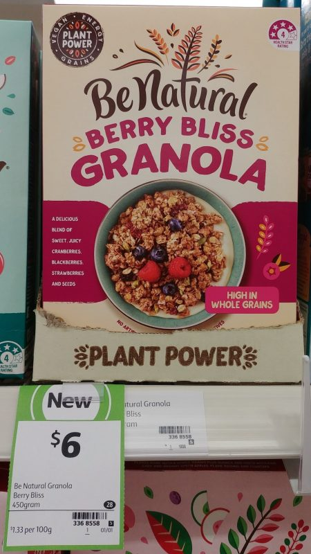 Be Natural 450g Granola Berry Bliss