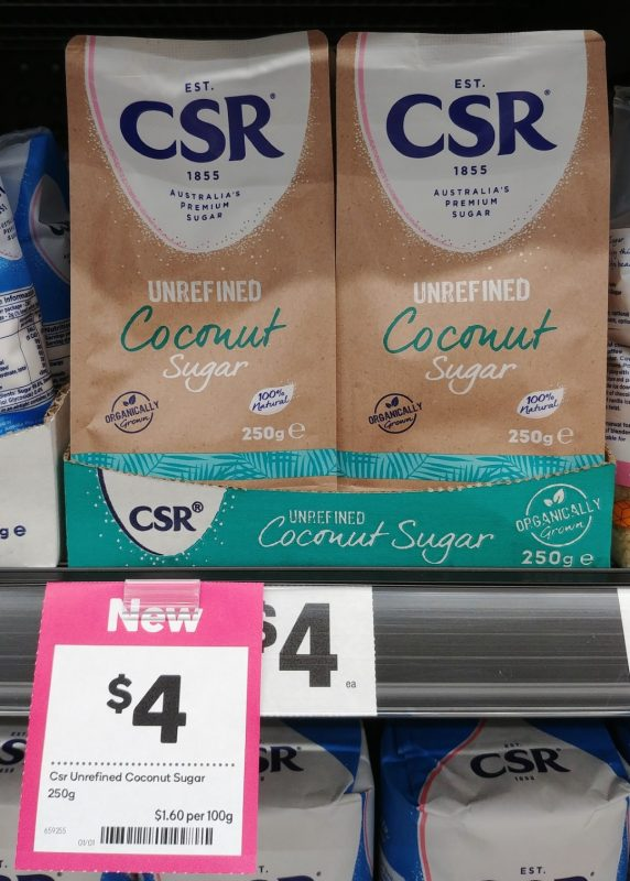 CSR 250g Coconut Sugar Unrefined