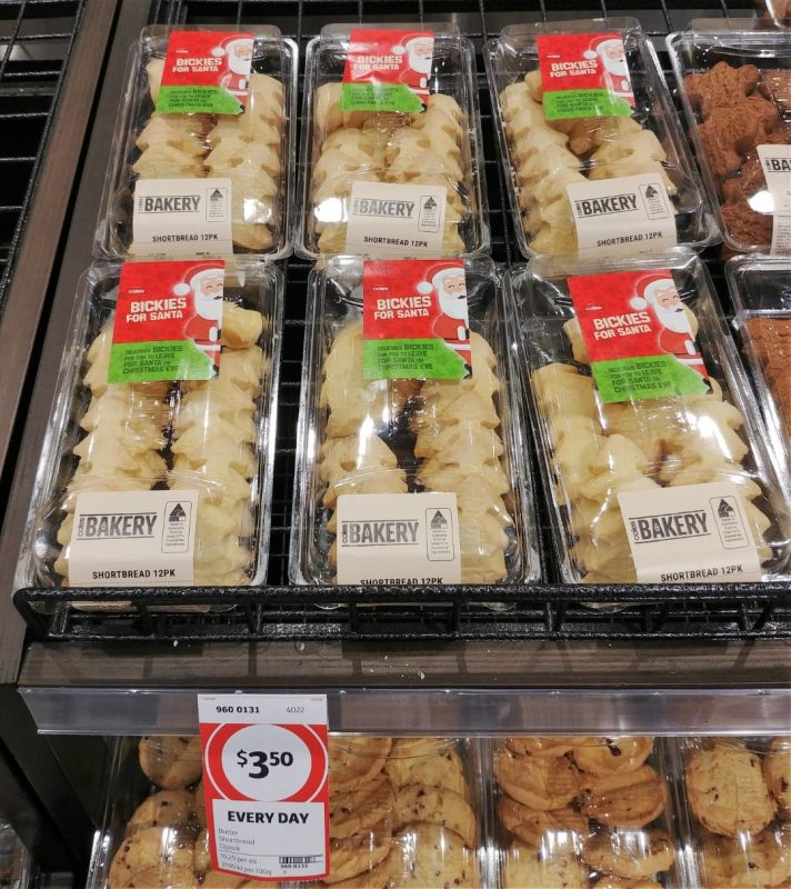 Coles 12 Pack Bickies For Santa Shortbread