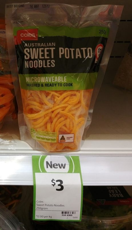 Coles 250g Sweet Potato Noodles