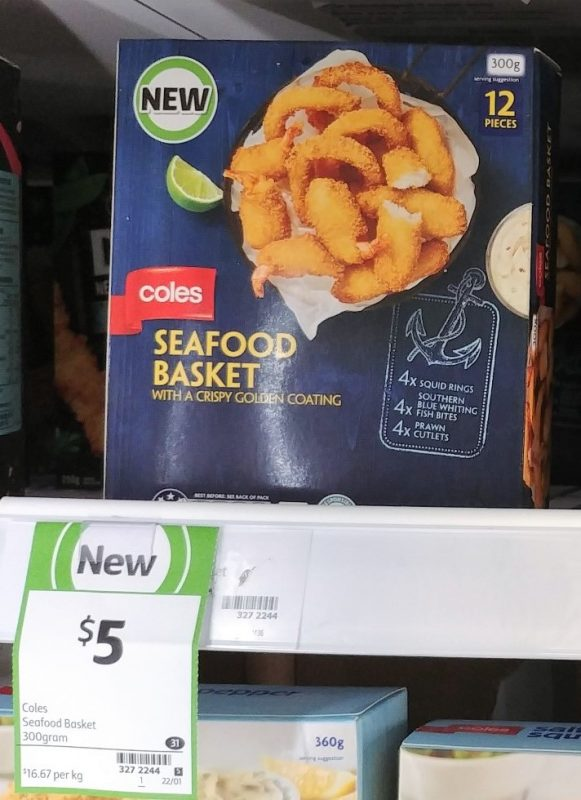 Coles 300g Seafood Basket