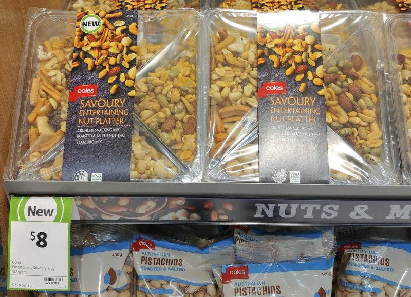 Coles 345g Nut Platter Savoury Entertaining