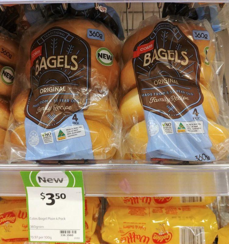 Coles 360g Bagels Original