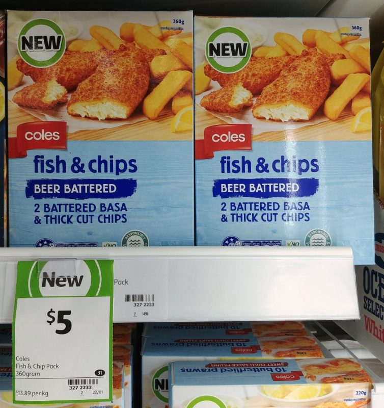 Coles 360g Fish & Chips Beer Battered