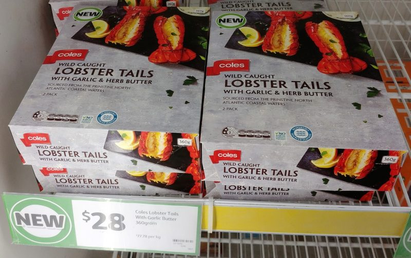 Coles 360g Lobster Tails Wild Caught