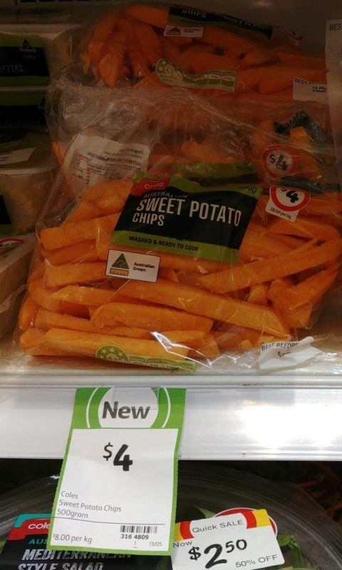 Coles 500g Sweet Potato Chips