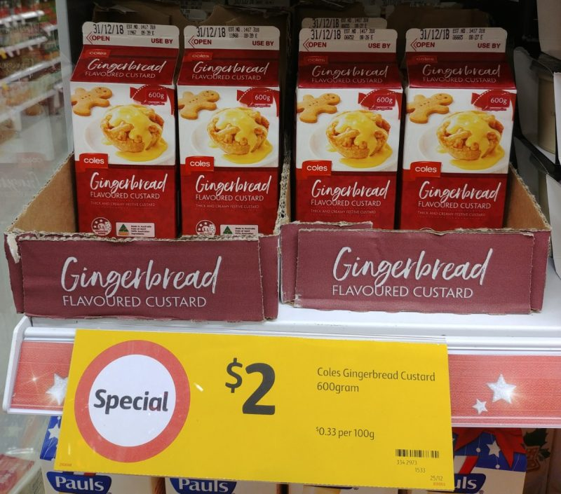 Coles 600g Custard Flavoured Gingerbread
