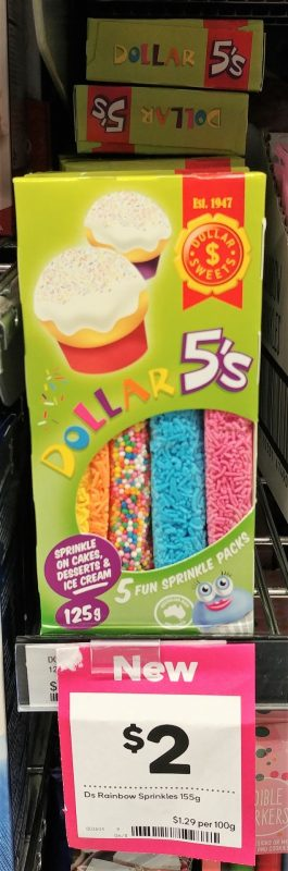 Dollar Sweets 155g Sprinkles Dollar 5's