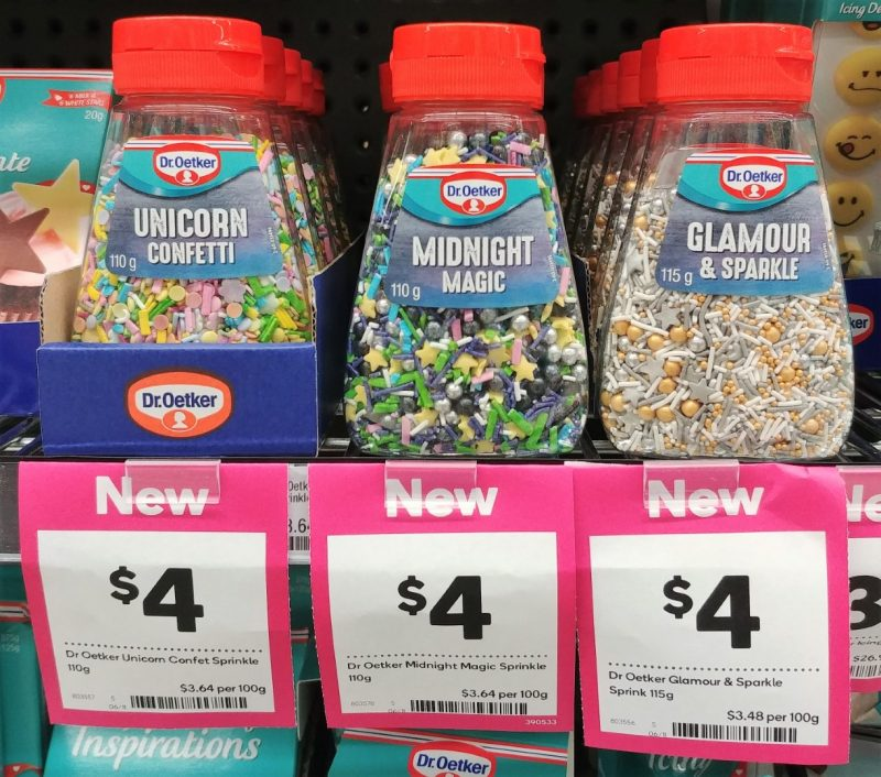 Dr Oetker 110g Sprinkles Unicorn Confetti, Midnight Magic, 115g Glamour & Sparkle