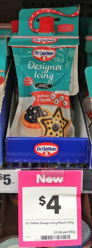 Dr Oetker 140g Designer Icing Black