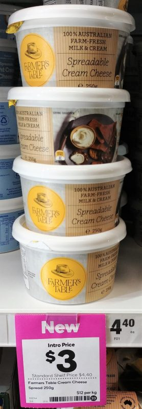 Farmers Table 250g Cream Cheese Spreadable
