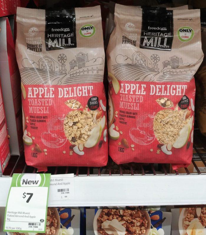 Freedom Foods 1kg Heritage Mill Toasted Muesli Apple Delight