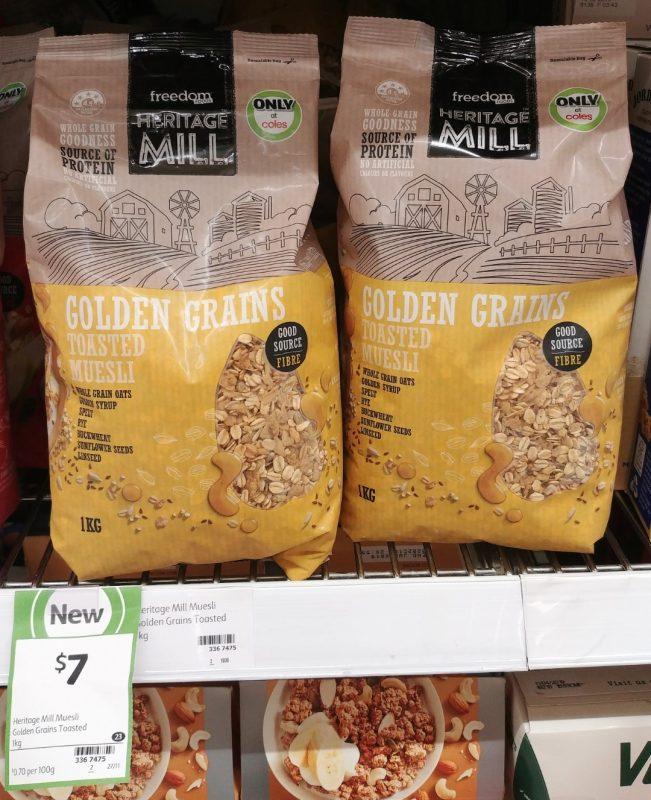 Freedom Foods 1kg Heritage Mill Toasted Muesli Golden Grains