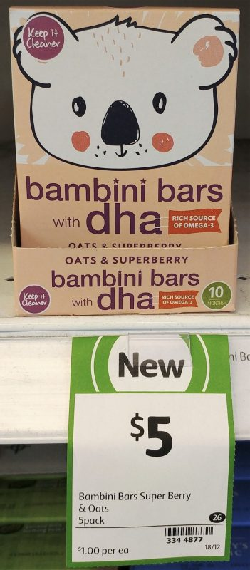 Keep It Cleaner 75g Bambini Bars Oats & Superberry