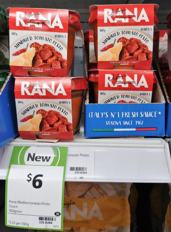 La Famiglia Rana 180g Sauce Sundried Tomato Pesto