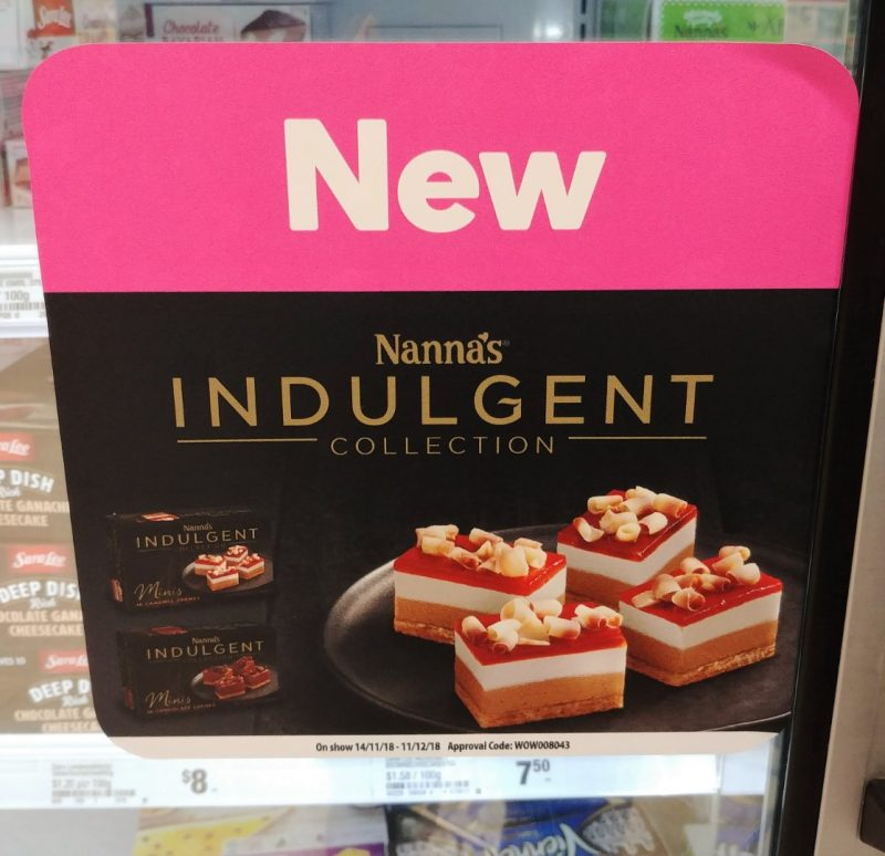 Nanna's 228g Indulgent Collection Cremes Minis Chocolate, Caramel POS