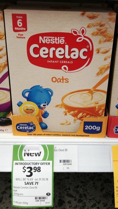 Nestle 200g Cerelac Infant Cereals Oats