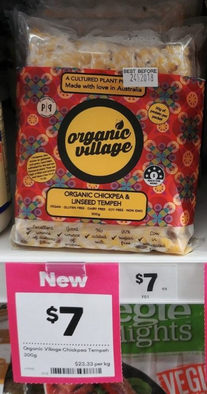 Organic Village 300g Temeh Organic Chickpea & Linseed