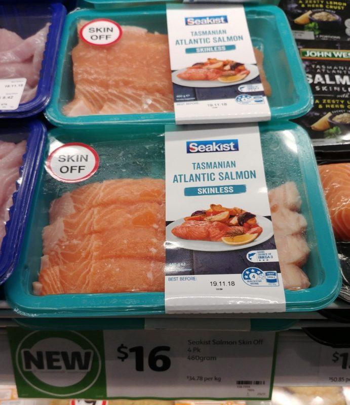 Seakist 460g Tasmanian Atlantic Salmon Skinless