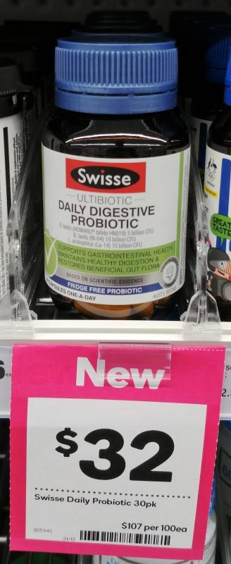 Swisse 30 Pack Probiotic Daily Digestive