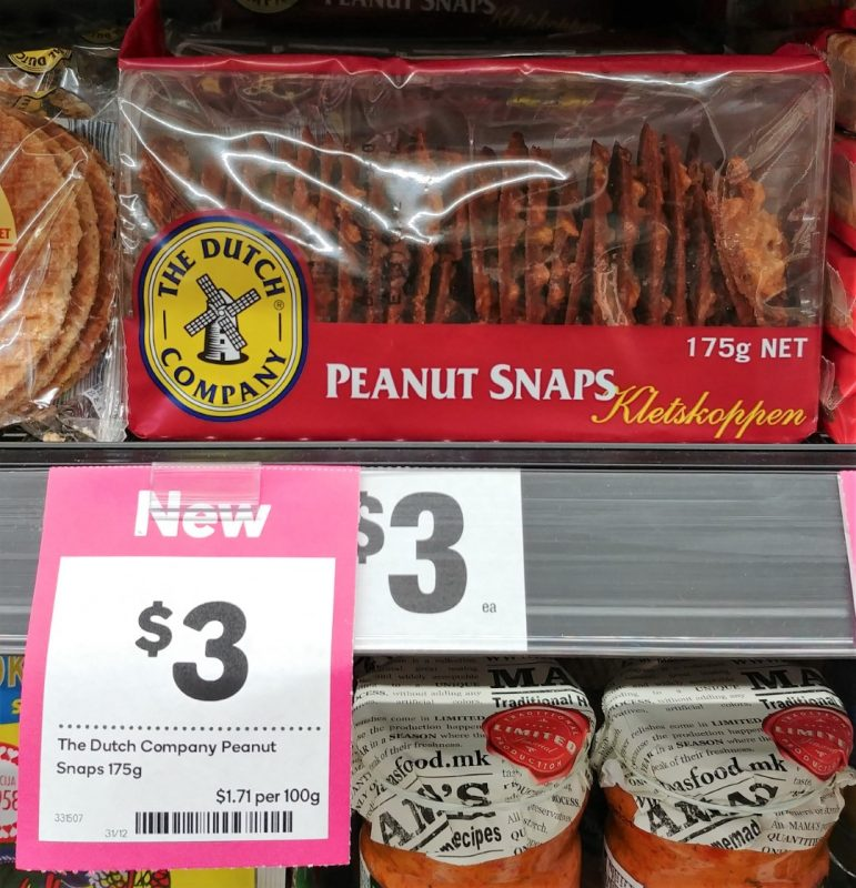 The Dutch Company 175g Snaps Peanut