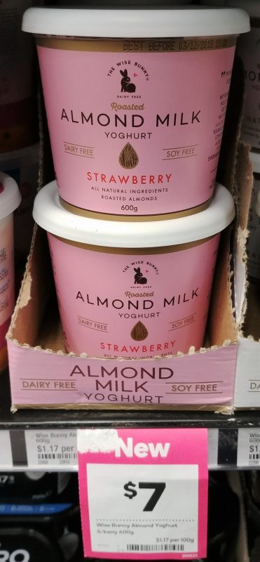 The Wise Bunny 600g Yoghurt Dairy Free Strawberry