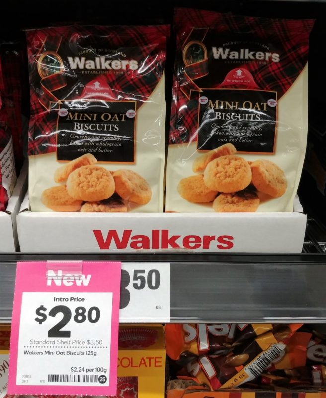 Walkers 125g Biscuits Oat Mini