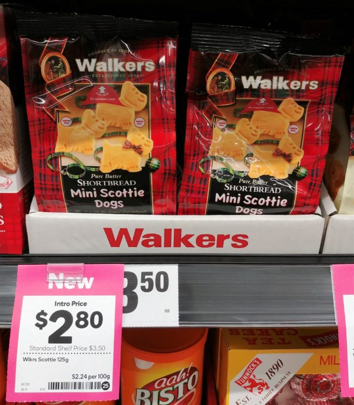Walkers 125g Shortbread Mini Scottie Dogs