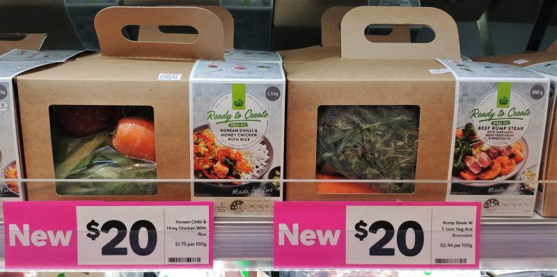 Woolworths 1.1kg Ready To Create Meal Kit Korean Chilli & Honey Chicken With Rice, 860g Beef Rump Steak