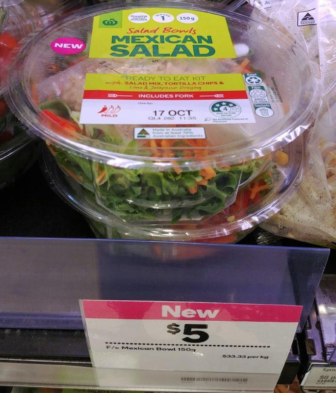 Woolworths 150g Salad Bowls Mexican Salad