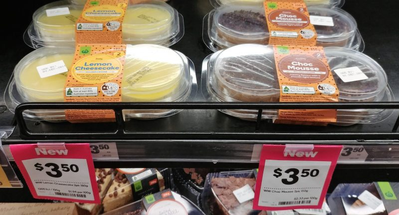 Woolworths 180g Lemon Cheesecake, 150g Choc Mousse