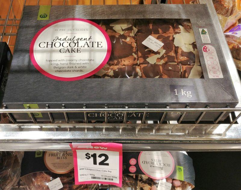 Woolworths 1kg Cake Chocolate Indulgent