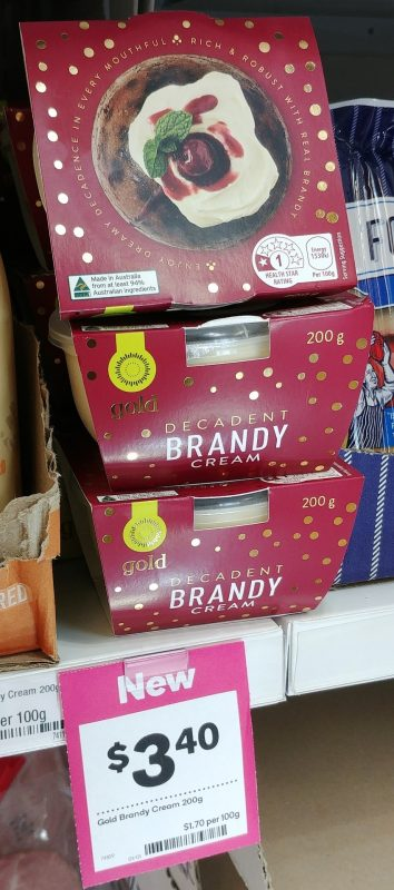 Woolworths 200g Gold Cream Brandy Decadent