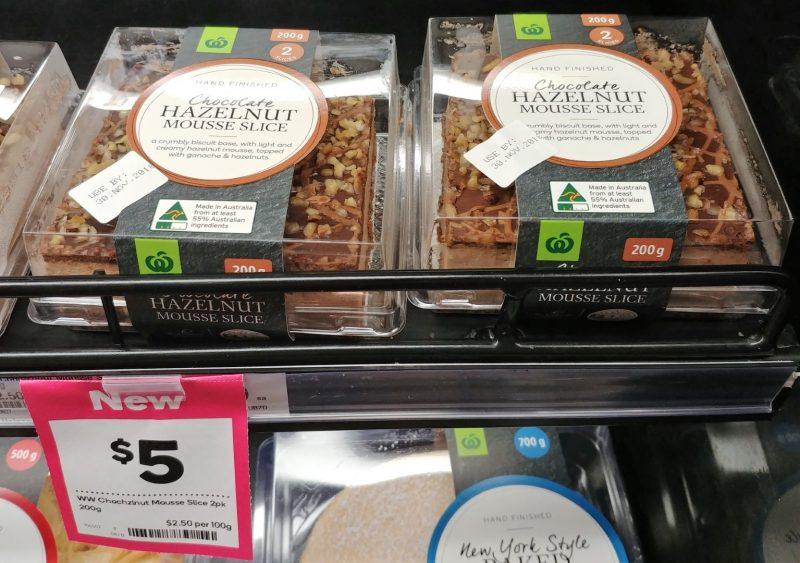 Woolworths 200g Slice Mousse Chocolate Hazelnut