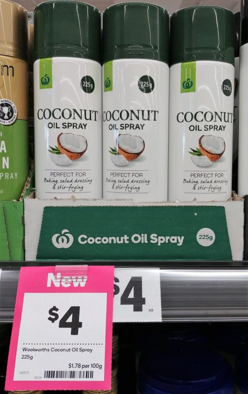 Woolworths 225g Oil Spray Coconut