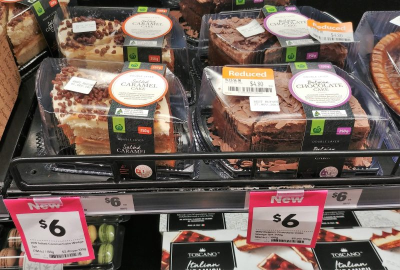 Woolworths 250g Cake Double Layer Salted Caramel, Belgian Chocolate