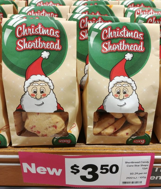Woolworths 290g Christmas Shortbread Candy Cane Star