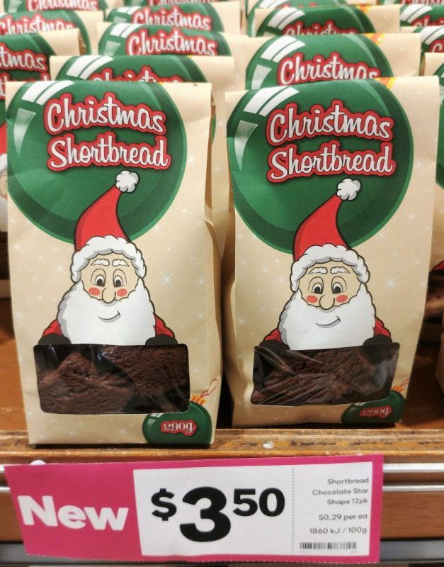 Woolworths 290g Christmas Shortbread Chocolate Star