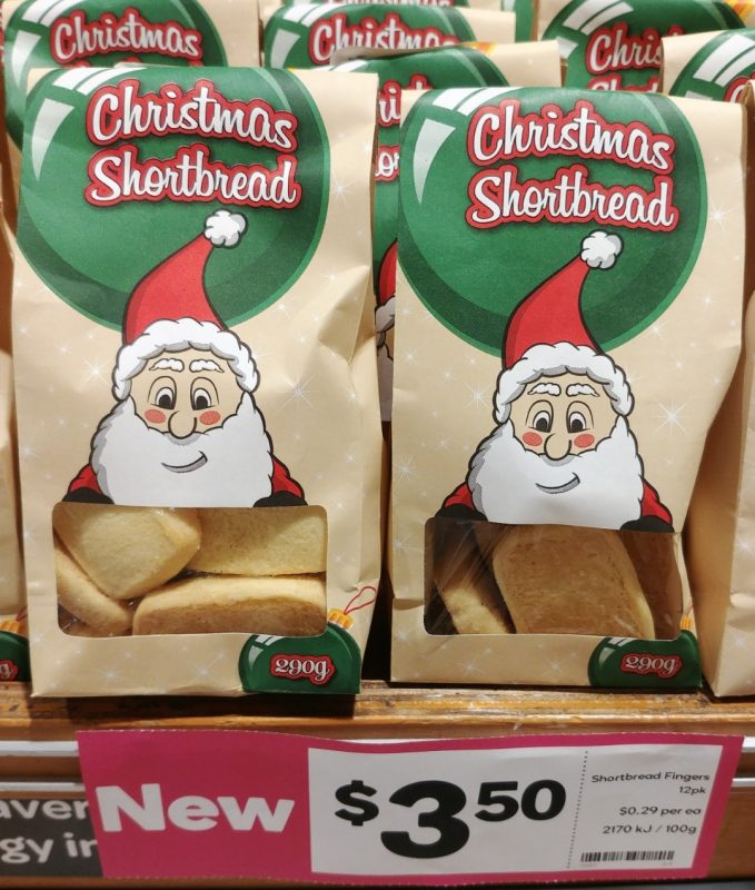 Woolworths 290g Christmas Shortbread Fingers