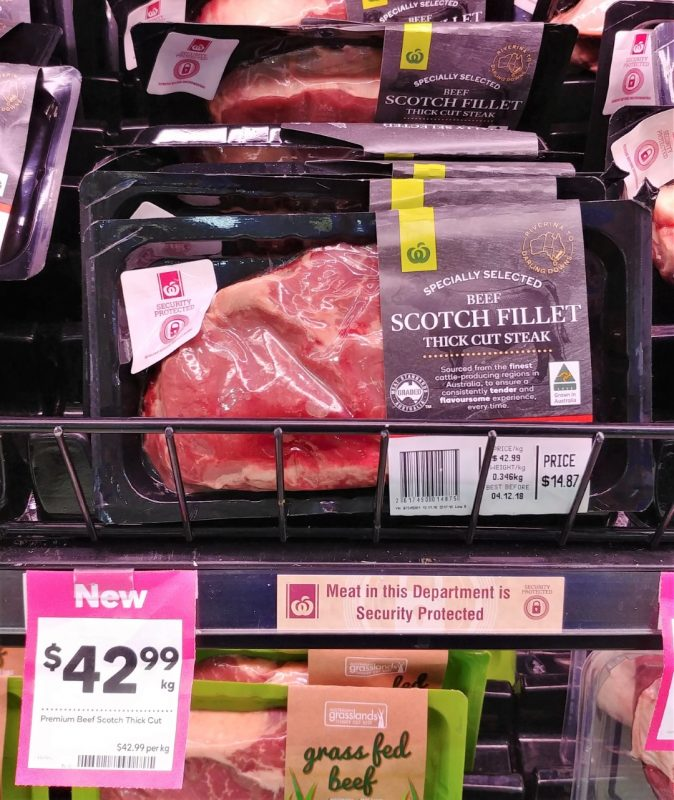 Woolworths $42.99 Kg Specially Selected Beef Scotch Fillet Steak Thick Cut