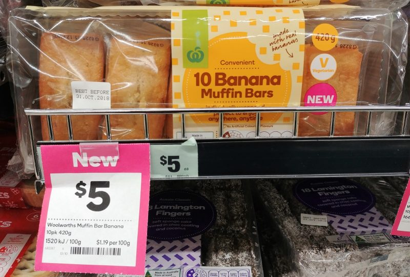 Woolworths 420g Muffin Bars Banana