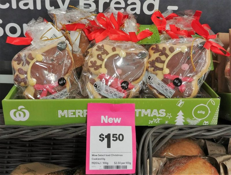 Woolworths 60g Cookes Christmas Iced