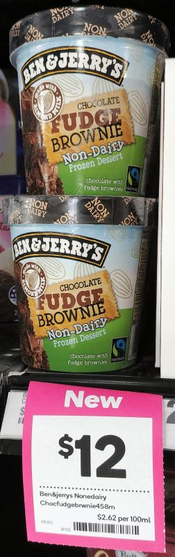 Ben & Jerry's Frozen Dessert Non Dairy Chocolate Fudge Brownie