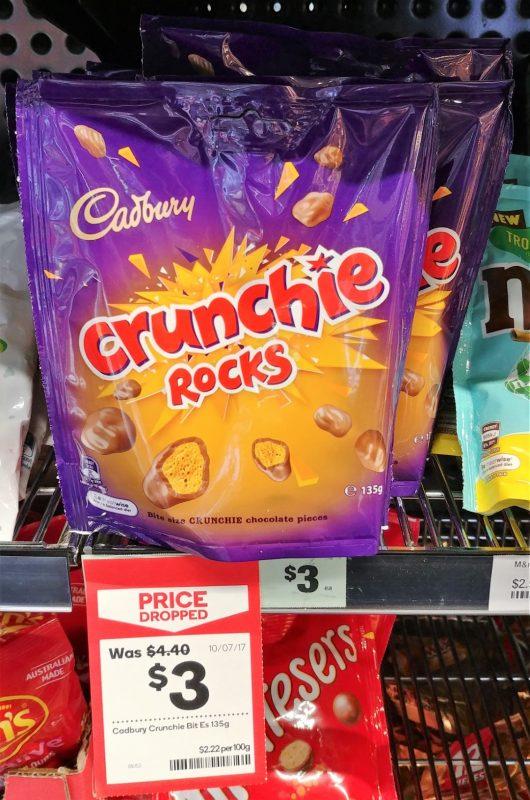 Cadbury 135g Chocolate Pieces Crunchie Rocks