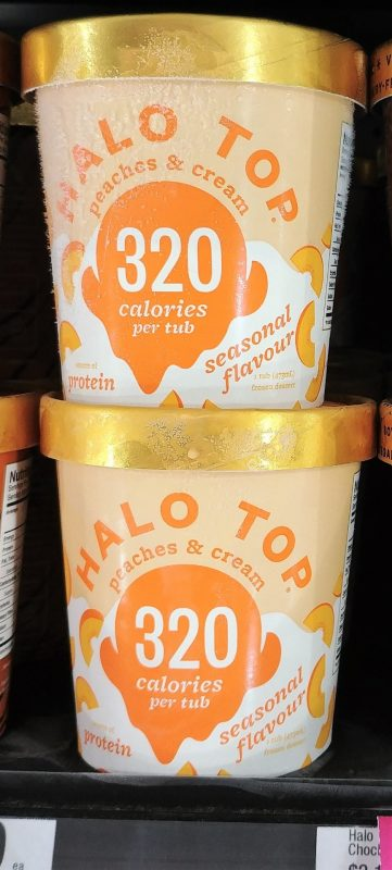 Halo Top 473mL Seasonal Flavour Peaches & Cream