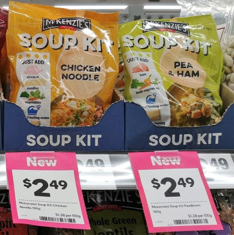 McKenzie's 180g Soup Kit Chicken Noodle, Pea & Ham