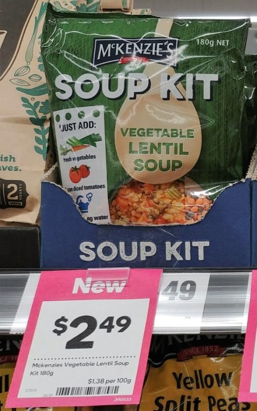 McKenzie's 180g Soup Kit Vegetable Lentil Soup